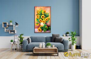 Tranh hoa hướng dương khổ đứng AmiA OP1563309: