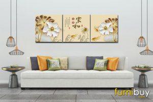 Tranh canvas hoa sen đẹp AmiA CV HS02