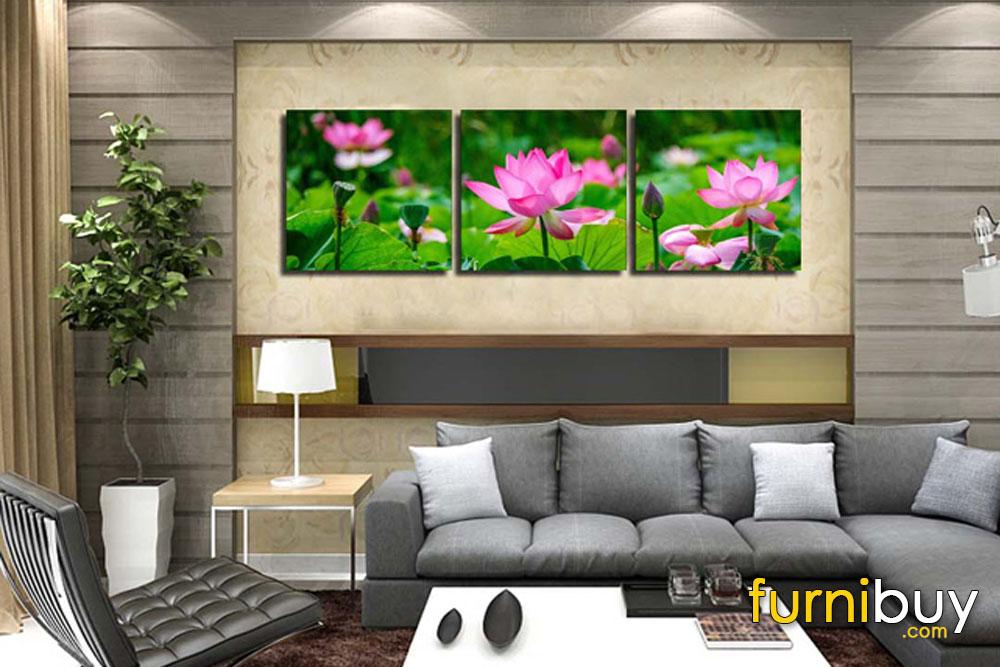tranh hoa sen amia 1125