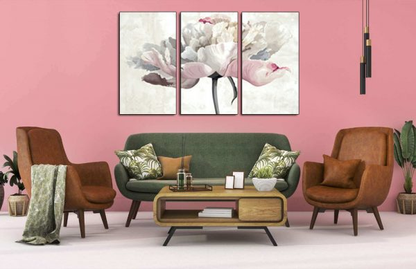 Tranh hoa mẫu đơn giả vẽ treo phòng khách đẹp AmiA 1529