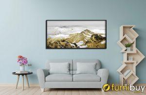 Gia chủ tuổi Tuất mệnh Kim rất hợp với các bức tranh núi