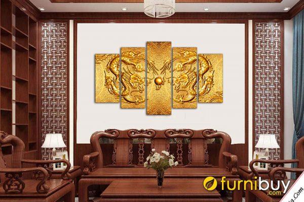 Tranh rồng vàng amia 1544