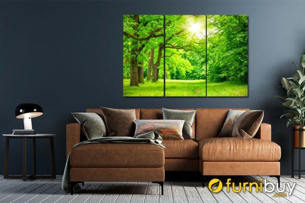 tranh rừng cây xanh ghép bộ amia 1646