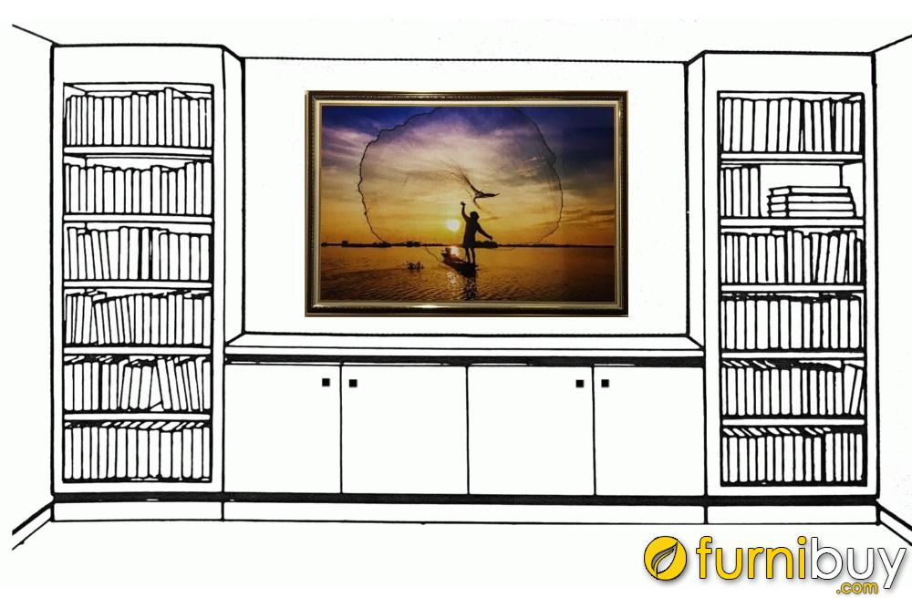 Treo tranh tường như một chuyên gia thiết kế nội thất