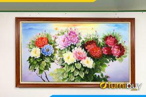 Tranh hoa mau don treo phong khach dep amia tsd 549