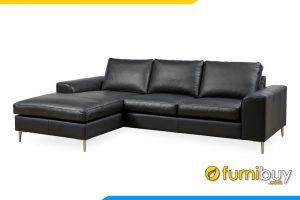 Ghế sofa được làm chất liệu da rất dễ dàng vệ sinh mỗi khi bị bẩn
