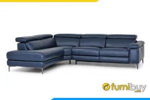 Bộ ghế sofa với chất liệu da cao cấp, kiểu dáng gật gù linh hoạt tùy chỉnh độ cao của sofa
