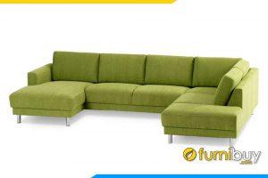 Ghế sofa với chất liệu nỉ có thể tháo nệm ngồi với gối tựa lưng để vệ sinh mỗi khi bị bẩn