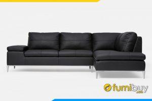 Bộ ghế sofa với chất liệu da màu đen cực sang trọng cho phòng khách gia đình bạn