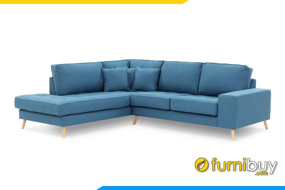 Bộ ghế sofa được thiết kế kiểu dáng thanh thoát rất mềm mại và hiện đại