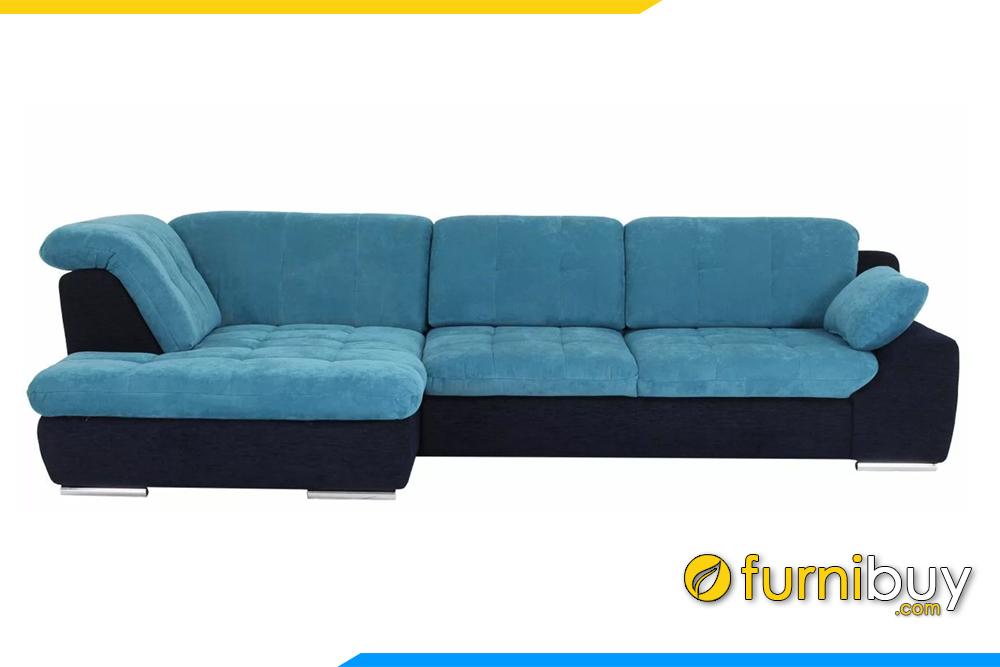 Hình ảnh mẫu sofa góc nỉ đẹp FB20142