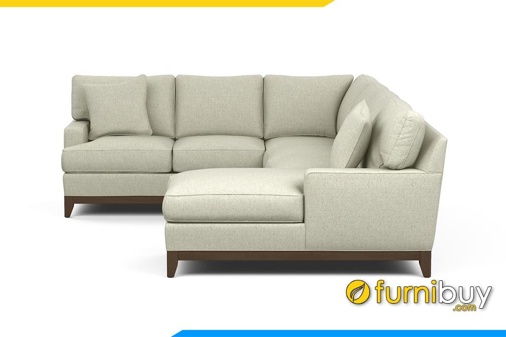 Ghế sofa với chất liệu nỉ bọc bên ngoài tạo cảm giác mềm mại cho người sử dụng