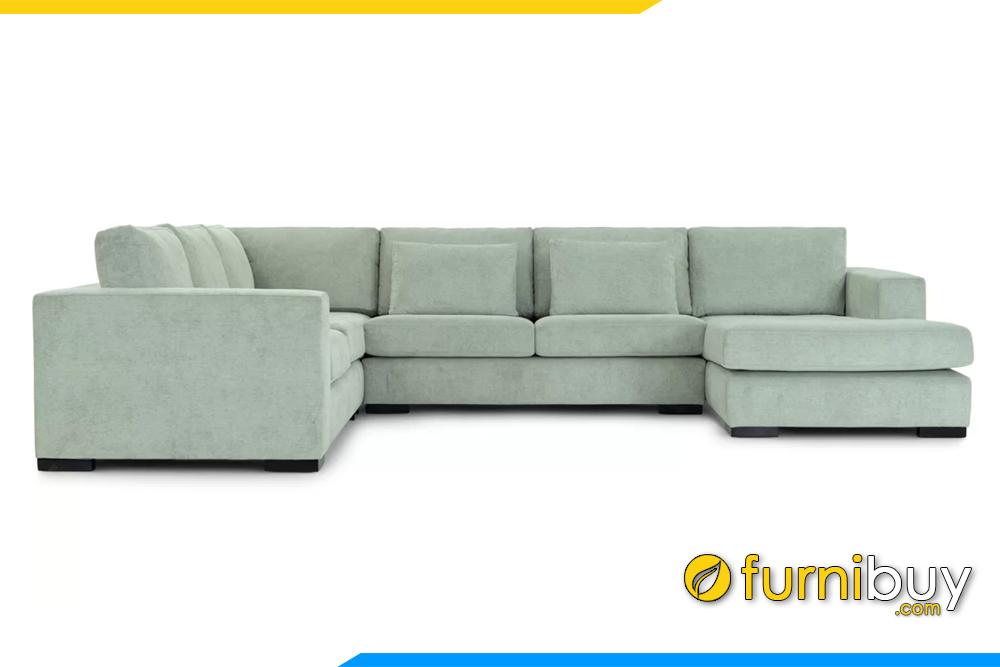 Hình ảnh mẫu sofa góc phòng khách sang trọng FB20130