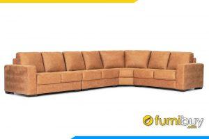 Mẫu sofa chất liệu da với màu sắc giả da bò cực sang trọng
