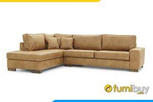Chất liệu vỏ bọc bằng da giúp chống thấm nước, dễ dàng vệ sinh ghế sofa mỗi khi bị bẩn