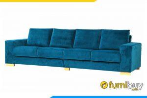 Với chất liệu nỉ nhung mềm mại mỗi khi sờ vào ghế sofa