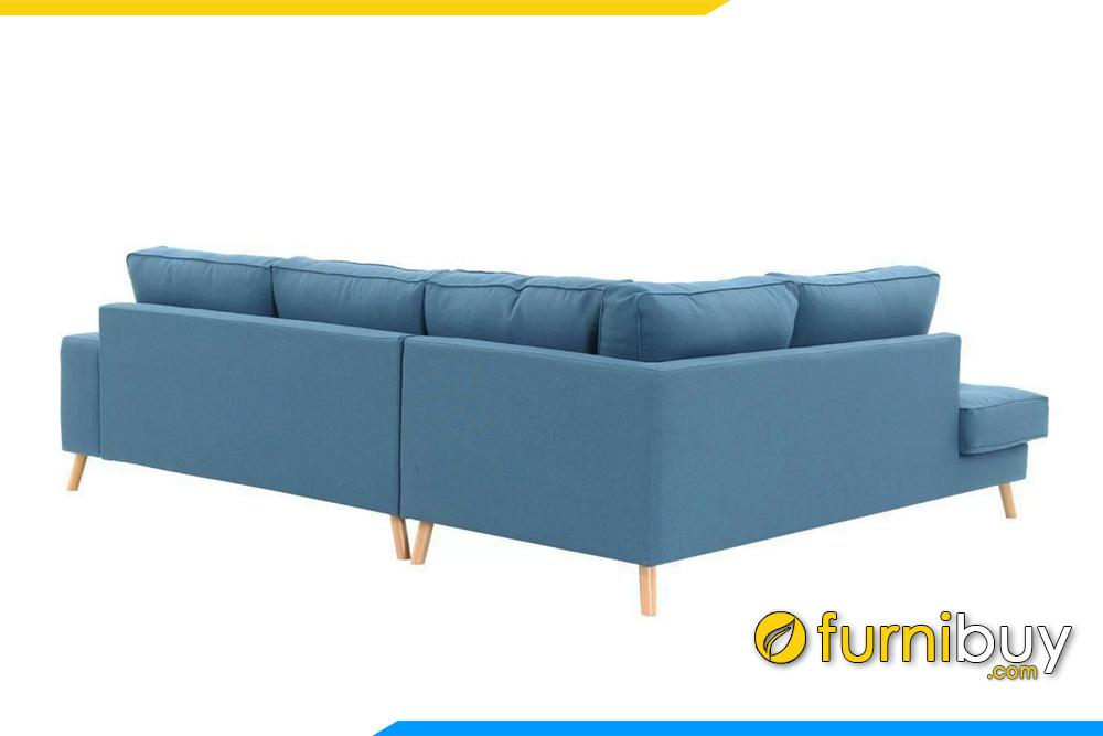 Ghế sofa với 1 góc vuông bạn có thể kê sofa tại những vị trí góc phòng khách như cạnh ban công, cửa sổ hay cầu thang