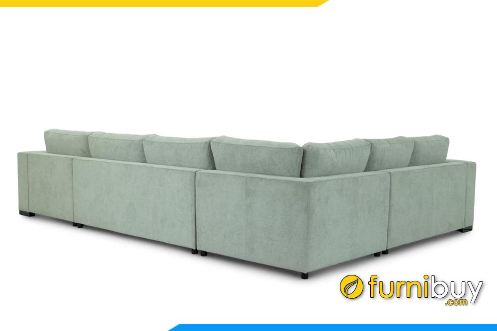 Bộ ghế sofa mang phong cách châu Âu với kiểu dáng góc chữ U đầy sang trọng, quý phái