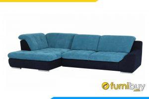 Ghế sofa được phối mầu đen xanh rất hiện đại phù hợp với nhiều phòng khác hiện nay
