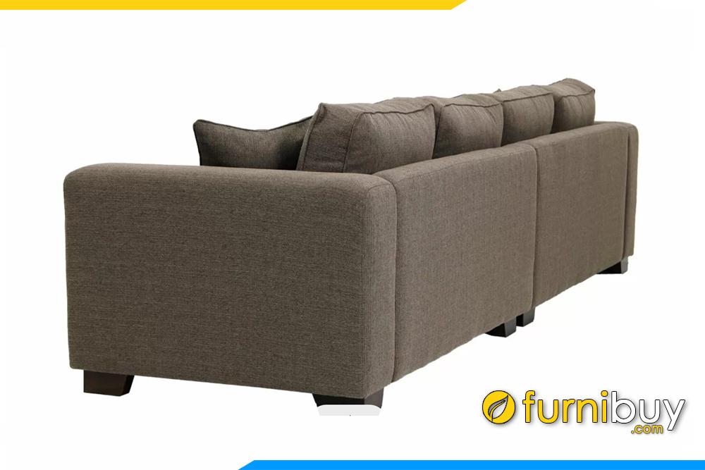 Hình ảnh chụp mặt sau của ghế sofa văng nỉ đẹp FB20144