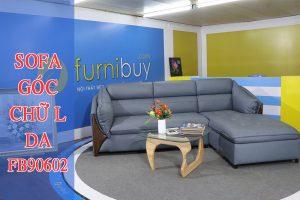 Sofa góc chữ L chất liệu da khung gỗ