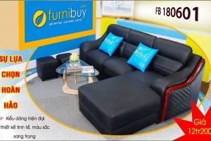 Sofa da màu đen sang trọng giá rẻ