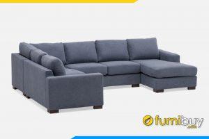 Mẫu ghế sofa góc chữ U rộng rãi có thể ngồi được nhiều người cùng lúc