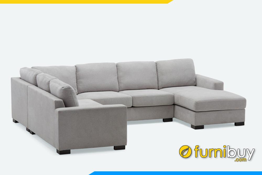 Ghế sofa nỉ có thể tháo rời nệm và gồi để vệ sinh mỗi khi bị bẩn
