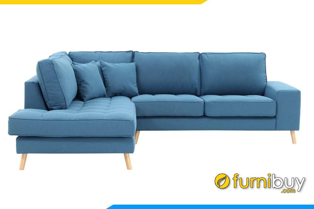Hình ảnh mẫu sofa góc nỉ phòng khách đẹp FB20139
