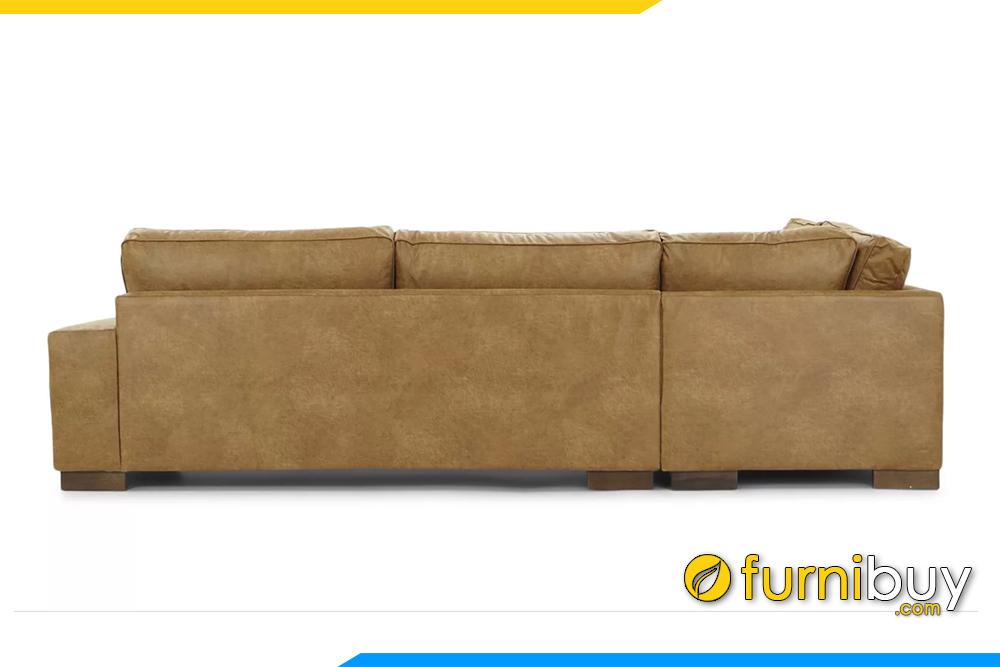 Nhìn mặt sau bạn có thể thấy ghế sofa chia thành 2 cục để tiện cho việc vận chuyển, lắp đặt được dễ dàng hơn