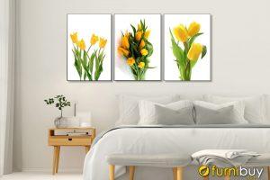 Tranh hoa tulip vàng treo tường phòng ngủ đẹp AmiA 919115