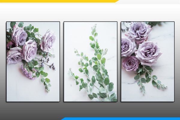 Tranh treo phòng ngủ hoa hồng tím đẹp AmiA 1219200