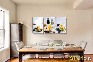 Tranh rượu nho treo tường phòng ăn đẹp amia 1469
