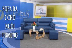 sofa văng da 2 chỗ ngồi FB060703