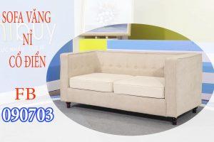 sofa cổ điển văng nỉ FB090703