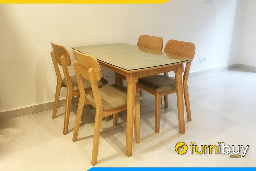 Furnibuy giao bộ bàn ghế ăn Mango 4 chỗ khu chung cư Ngoại Giao Đoàn