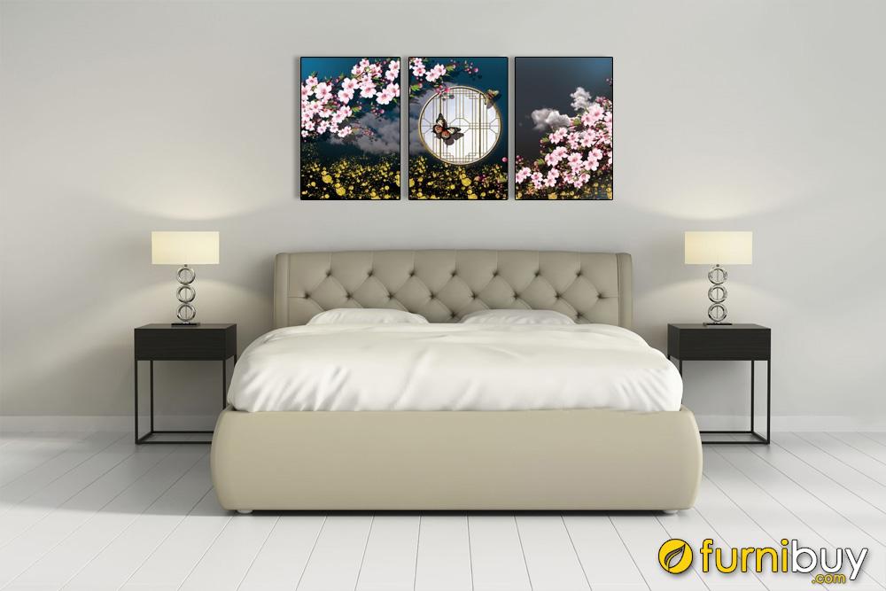tranh bộ canvas nghệ thuật trang trí phòng ngut