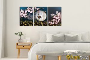 Tranh trang trí phòng ngủ canvas hoa amia 919014