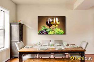 Tranh rượu nho treo phòng ăn rộng AmiA 659