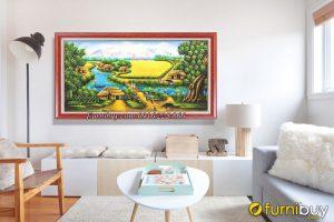 tranh sơn dầu trang trí phòng khách hiện đại AmiA TSD 508