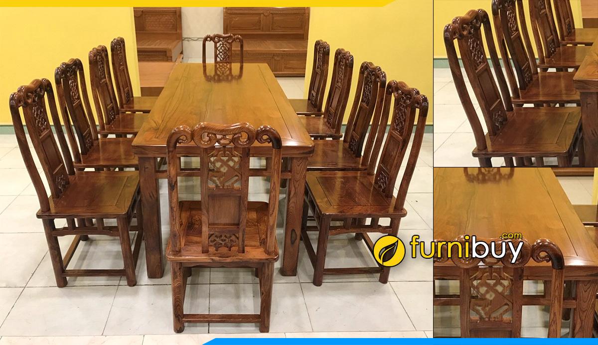Hình ảnh Bộ bàn ăn 10 ghế gỗ cẩm lai