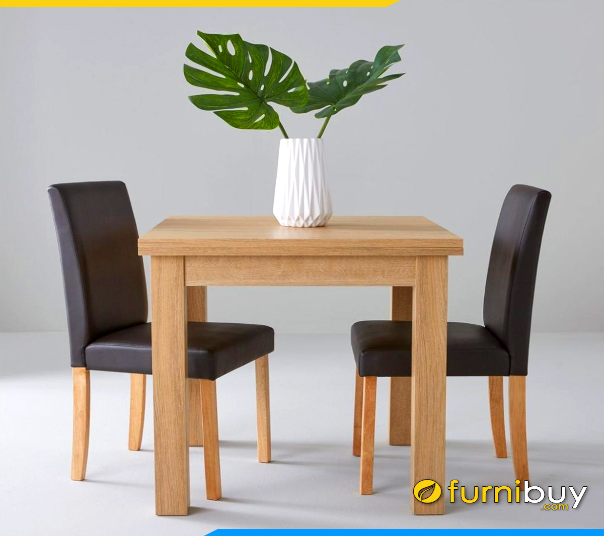 Hình ảnh bàn ăn 2 ghế bọc nỉ trẻ trung