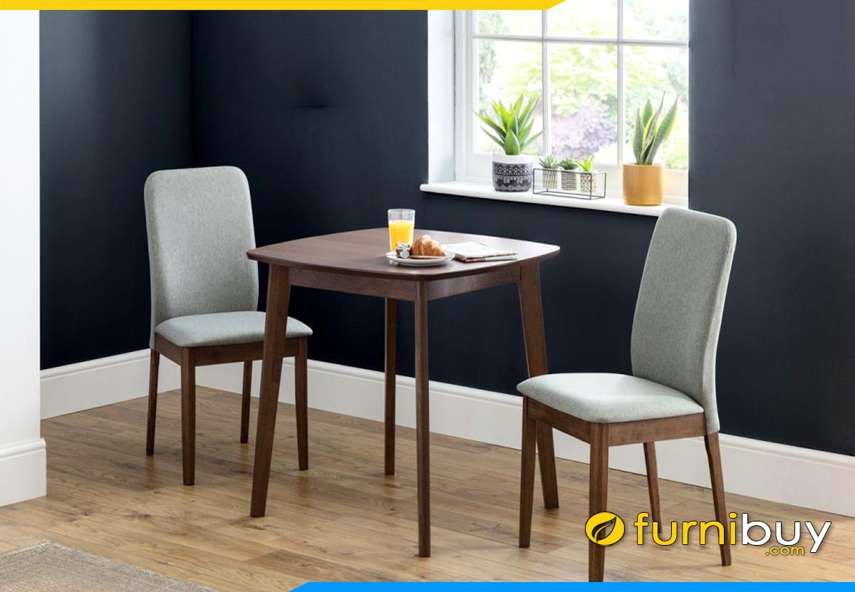 Hình ảnh bộ bàn ăn 2 ghế bọc nỉ đẹp hiện đại
