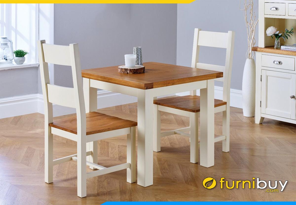 Hình ảnh bàn ăn 2 ghế đẹp hình vuông nhỏ gọn