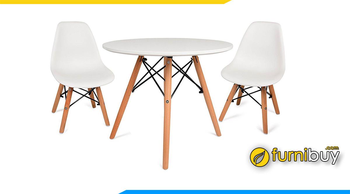 Bộ bàn ăn 2 ghế nhựa eames