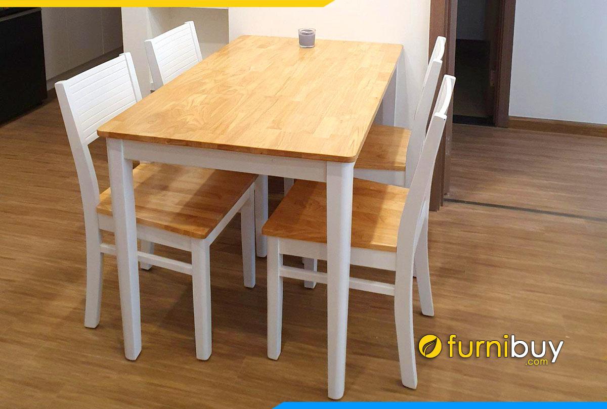 Hình ảnh Bộ bàn ăn Cabin sơn trắng đẹp