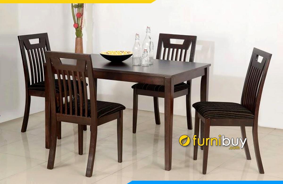 Hình ảnh bộ bàn ăn 4 ghế cao cấp nhập khẩu phong cách Châu Âu