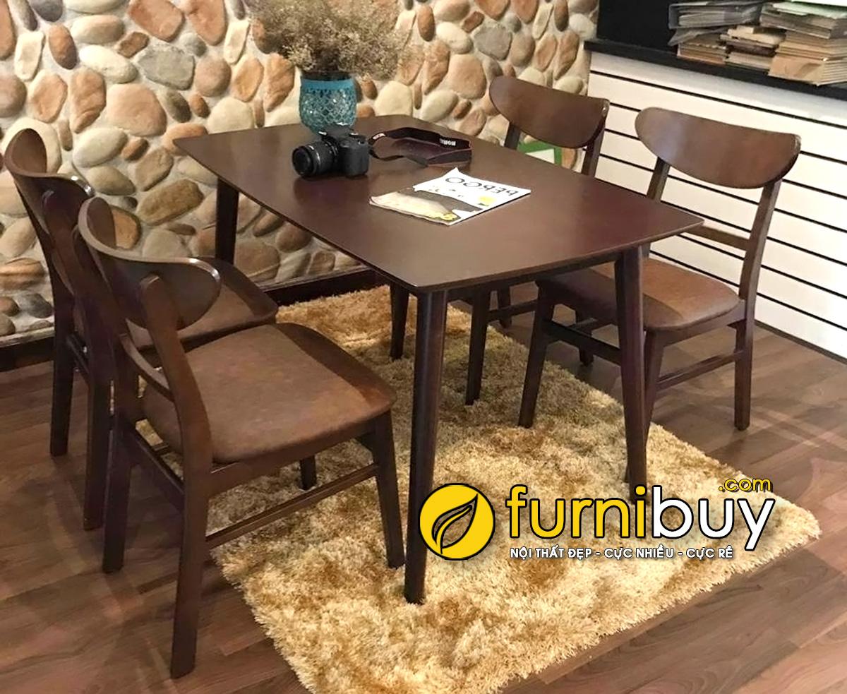 Bộ bàn ăn 4 ghế gỗ Sồi mango BA024