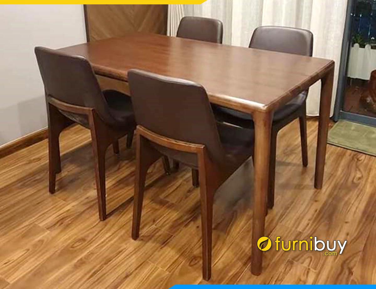 Hình ảnh bộ bàn ăn chữ nhật 4 ghế đẹp giá rẻ