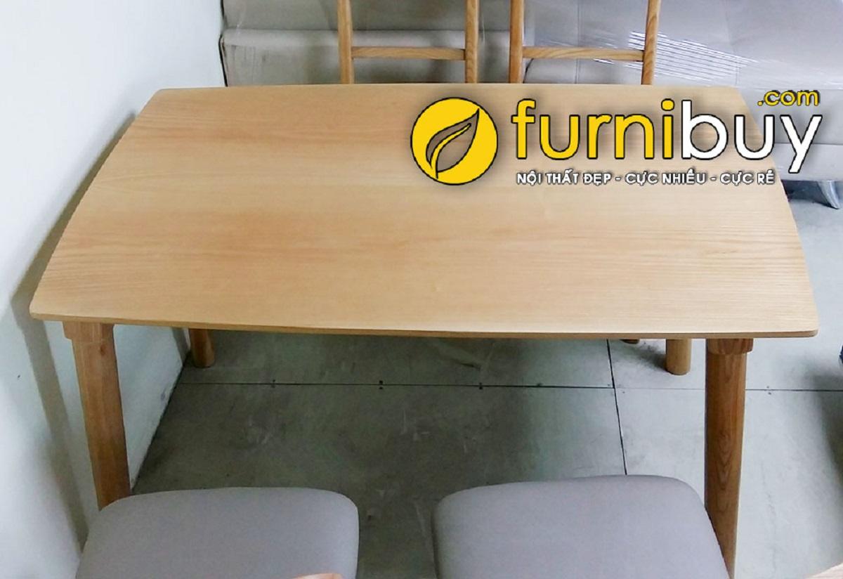 Hình ảnh mẫu bàn ăn giá rẻ gỗ Sồi BA023
